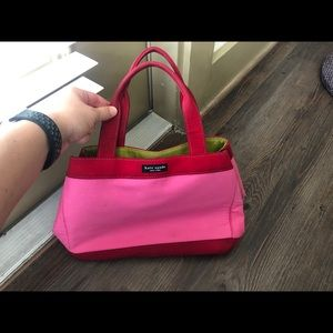 Kate spade pink canvas tote